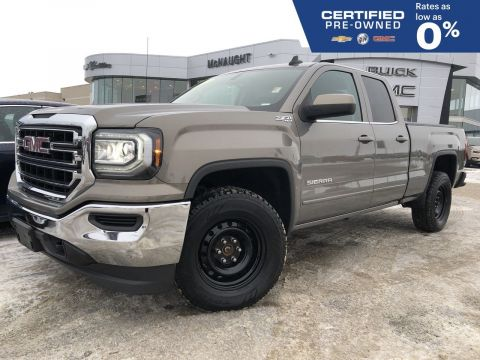 Certified Pre-Owned 2017 GMC Sierra 1500 SLE 4x4 Double Cab | Remote Start | Touchscreen